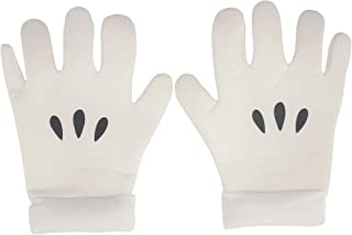 ABG Accessories Super Mario Brothers Mario Gloves for Adults, One Size, Feature 3 Black Dots Just Like Mario's