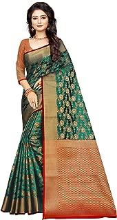 MULTIRETAIL Women Banarasi silk kurta (D1044SET2TU_Dark Green_