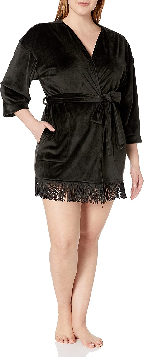 Tucson Mall Casual Moments Women's Indefinitely Plus Size 34 Inch Lace Trim Bl with Wrap