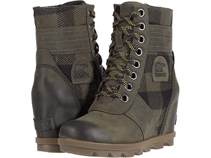 sorel wedge lace up boots
