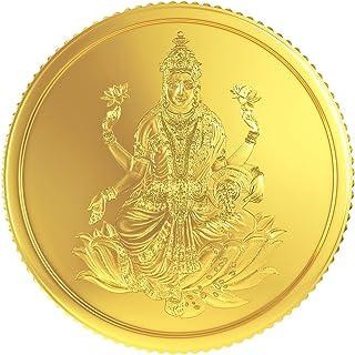 Joyalukkas 22k (916) 8 gm BIS Hallmarked Yellow Gold Precious Coin with Lord Lakshmi Design