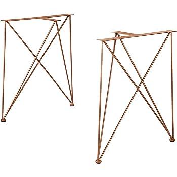 WaiMin Pie de soporte de muebles Patas de la mesa de hierro dorado ...
