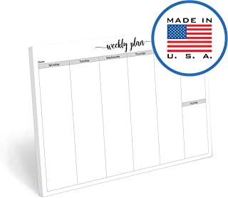 321Done Blank Week Landscape Notepad - 50 Sheets (8.5