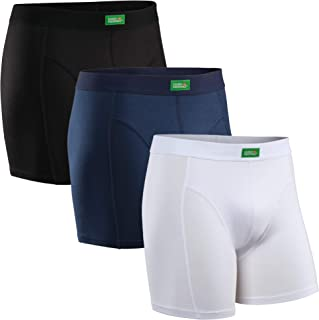 Calzoncillos Bóxer de Algodón Orgánico Elástico, Boxershorts para Hombres, Multipack, sin Etiqueta, Cintura Elástica Cómod...