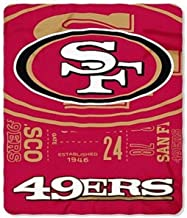 NFL San Francisco 49ers Oversized 66in X 90in Plush Fleece Throw Blanket