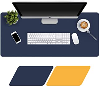 Large Desk Pad 80x40cm, Double-Sided Desk Mat, PU Leather Gaming Mouse Pad for PC Laptop, Waterproof Mouse Keyboard Mat, N...
