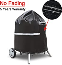 Patiassy 3 Layers Weber Kettle Grill Cover for Round Charcoal Grills 26.5