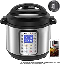 Instant Pot Smart WiFi 6 Quart Multi-use Electric Pressure, Slow, Rice Cooker, Yogurt, Cake Maker, Sauté, Steamer and Warmer, Silver (Renewed)