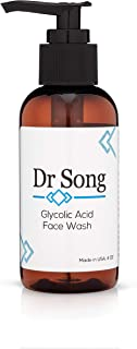 Dr Song Glycolic Acid Face Wash and Pore Cleanser, 10% Gel, Anti-Aging Exfoliating Skin Care, Fight Redness, Acne Breakouts and Blemishes, Diminish Fine Lines and Wrinkles