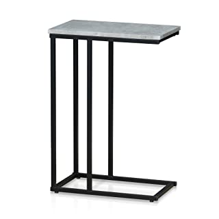 Furinno Modern Side Table, Faux Stone