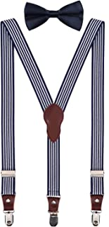 Boys' Men's Suspenders and Bow Tie Set Y-Back Adjustable