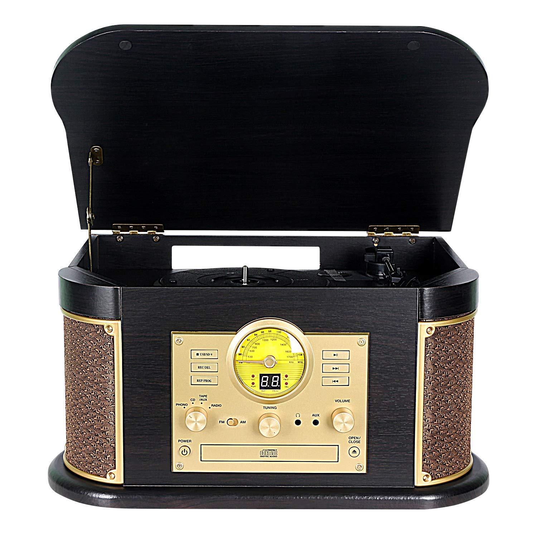 Phonographs DLITIME Turntable Bluetooth Headphone