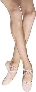 Bloch Dance 女式 Performa 弹性帆布分离式鞋底芭蕾舞鞋/拖鞋 戏剧粉红色 4.5 C US