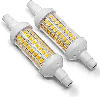 Conjunto de 2 - ZoneLED SET - 78mm - Bombilla SMD LED - R7S - Cerámica - 6W (Equivalente incandescente 50W) - luz blanca 6000K - 450 lm - Ángulo de haz 360°