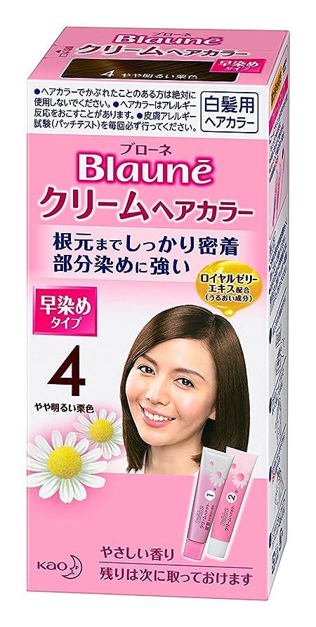 充電分析的な必要性【花王】ブローネ クリームヘアカラー 4やや明るい栗色 ×5個セット