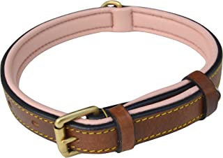 Soft Touch Collars - Padded Leather Dog Collar, Slimline Edition
