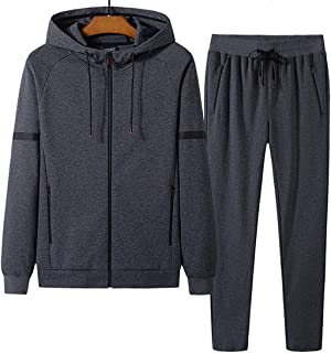 Men's Track Suits 2 Piece Athletic Sports Casual Full Zip Sweatsuit Hoodies Joggers Set