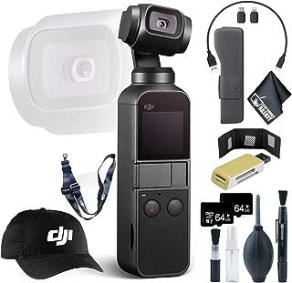 DJI Osmo Pocket Gimbal + Memory Card Wallet + 64GB microSD Memory Card x2 + Baseball Cap & Lanyard and More
