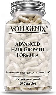 VOLUGENIX Advanced Hair Growth Vitamins And Hair Loss Supplements - Hair Vitamins For Men And Women - Hair Skin Nails Supplement 60 Capsules - Hair Biotin For Thicker Fuller Hair And Hair Vitamins