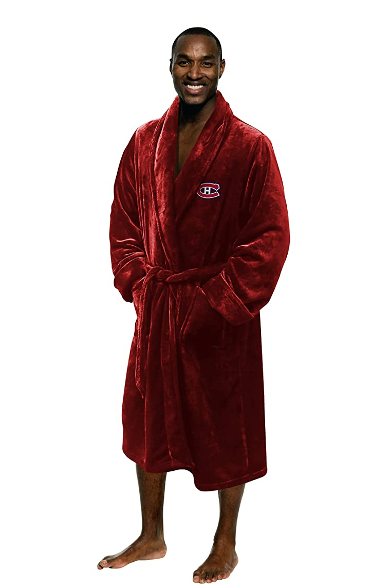 Officially Licensed NHL Men's Silk Touch Lounge Robe, Large/X-Large