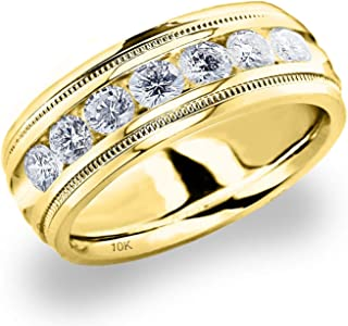 Best mens yellow gold and diamond wedding bands Reviews
