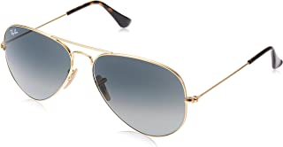 RAY-BAN RB3025 Aviator Large Metal Sunglasses, Gold/Grey Gradient, 58 mm