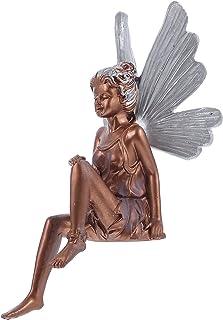 WINOMO Sitting Fairy Staty Fairy Trädgård Angel Staty Trädgård Angel Staty Faire Trädgård Ängle Skulptur Patio Gräsmatta G...