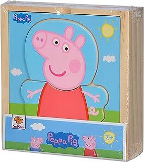 Eichhorn 109265707 - Puzzle de mudanza de Peppa Pig con Diferentes Prendas de Vestir, Multicolor, puzle de Madera certific...