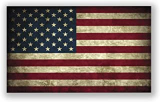 CWI NI329 Vintage-Look American Flag Decal Sticker   5-Inch 3-Inch   Old Glory   Merica Decal   Premium Quality Vinyl Decal