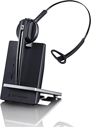 $95 Get Sennheiser D 10 USB ML - US (506418) Single-Sided Wireless DECT Headset, with Direct Softphone Connection, Noise Cancelling Microphone, and is Skype for Business Certified (Black)