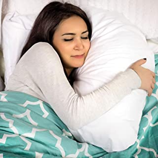 DMI U Shaped Contour Body Pillow Great for Side Sleeping, Neck Pain, Cervical Support..