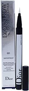 Christian Dior Diorshow On Stage Liquid Eyeliner 001 Matte White for Women, 0.01 Ounce