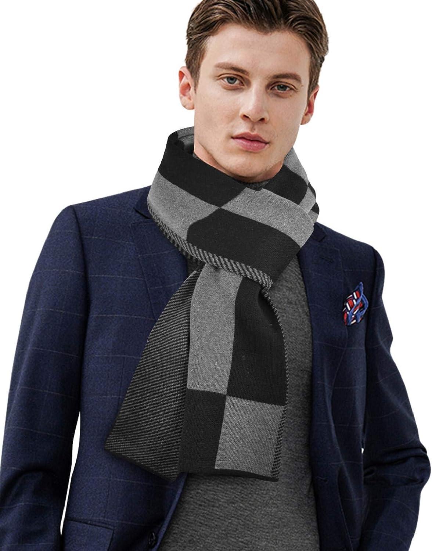 CMTOP Uomo Sciarpa Autunno Invernale Sciarpa Termica Calda Morbida Casual Business Cachemire Griglia Morbido Uomo Fashion Sciarpa Inverno Colore