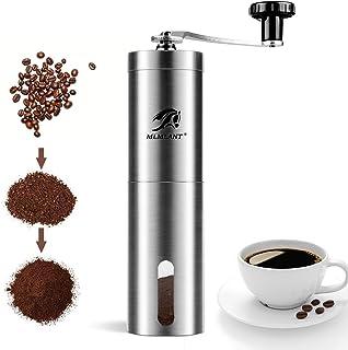 MLMLANT Kaffekvarn konisk kvarn manuell hand, justerbar slipgrad, handkvarn kaffekvarn handvev tuerkisk justerbar keramik,...