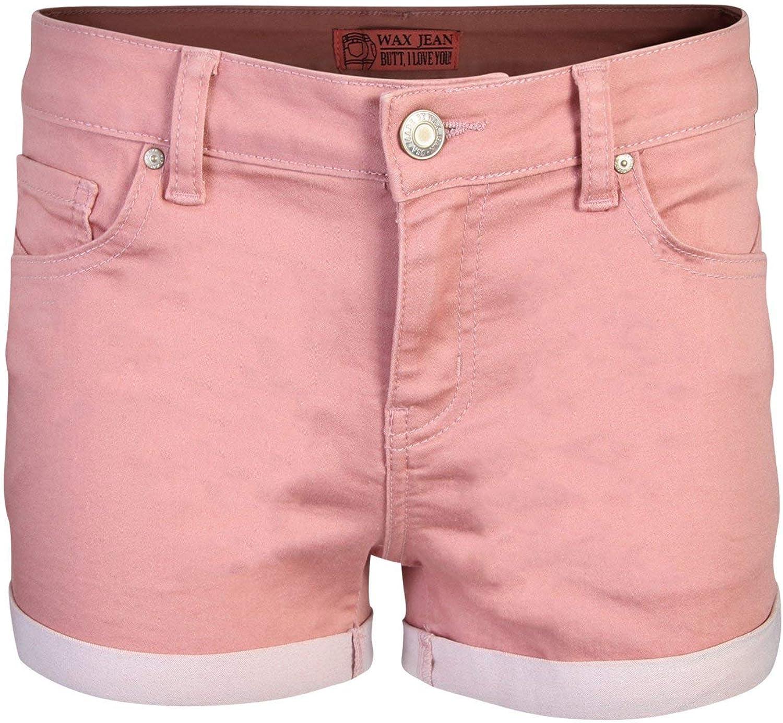 Pink Ice Women's Juniors Perfect Fit MidRise Denim Shorts