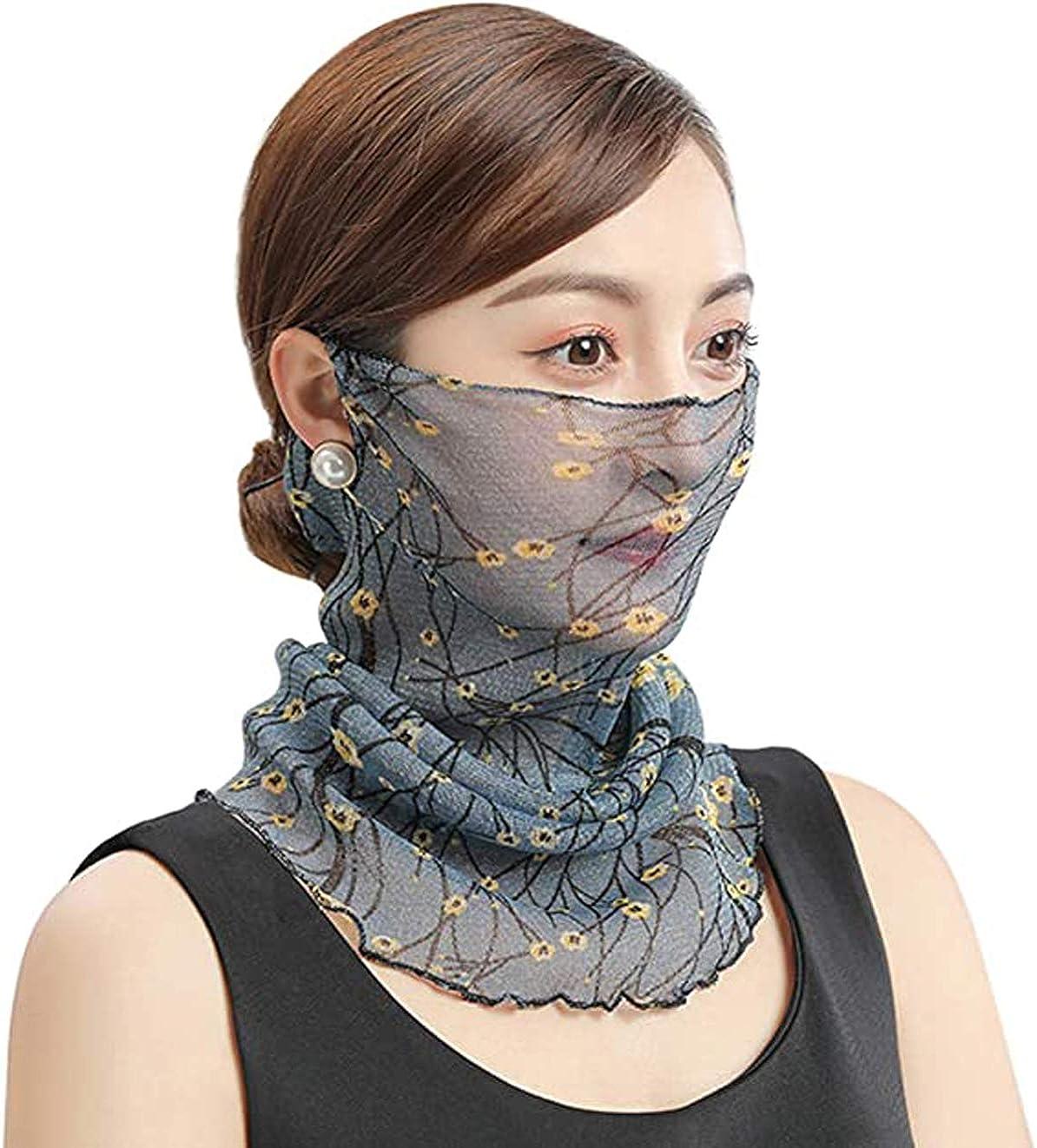 MonicaSun Face Scarf Mask-Dust Outdoors Balaclavas Cloth Sports Sun Protection Scarf(1pack)