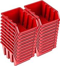 Pafen NP4 - Juego de cajas apilables (20 unidades), color rojo