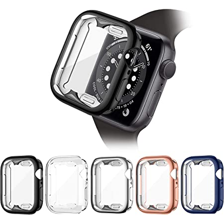 ZEBRE 5 Pack Screen Protector Compatible with Apple Watch Series 3 / Series 2 / Series 1 42mm, Soft TPU Full Coverage Protective Case Cover Compatible with iWatch Series 3/2/1