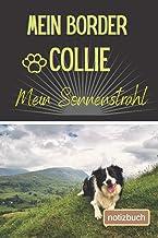 Mein Border Collie Mein Sonnenstrahl Notizbuch: Liniertes Notizbuch | Hundebild auf dem Umschlag | Border Collie |100 Deco...