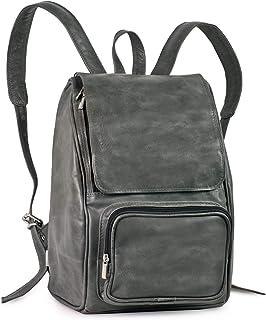 Mittel-Großer Lederrucksack Größe M Laptop Rucksack bis 14 Zoll, für Damen und Herren, Jahn-Tasche 710