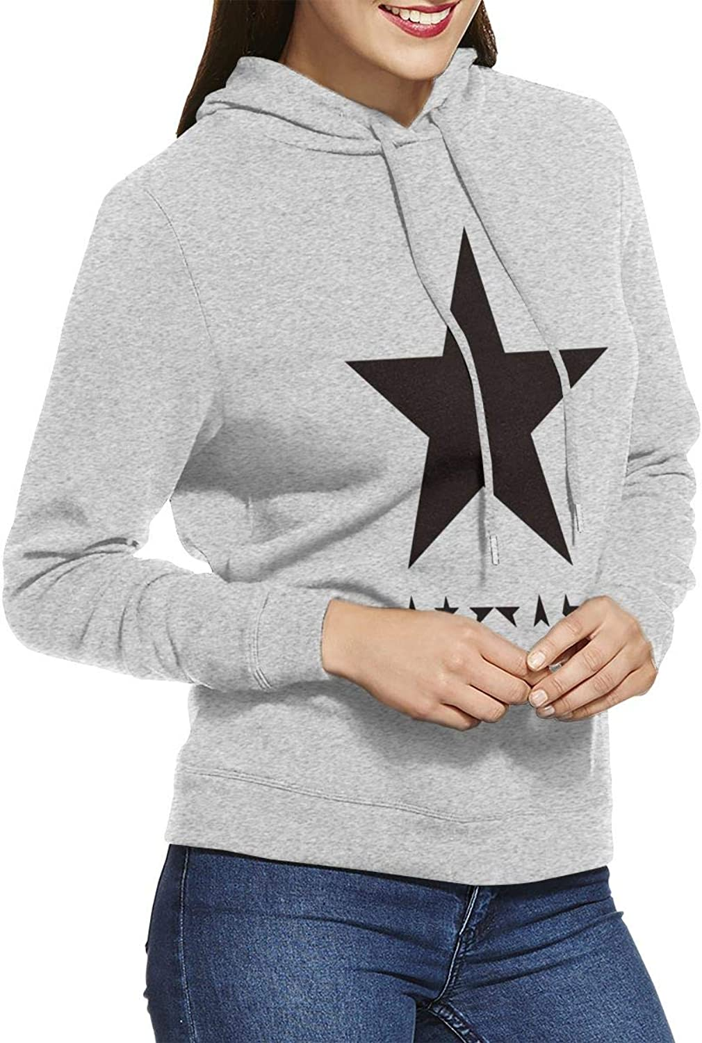 LIALUER David Bowie Blackstar Album Cover Women's Hoodies
