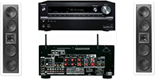 Klipsch KL-6504-THX In-Wall LCR Speaker(Pair) Onkyo TX-NR838 7.2 Channel Network- White