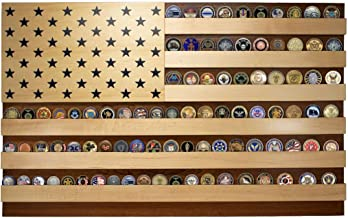 product image for Wall-mountable American Flag Challenge Coin Display case