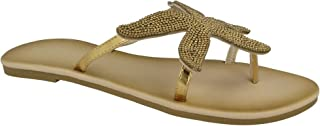 6189529a9 Savannah Womens Ladies Starfish Beaded Toepost Sandals