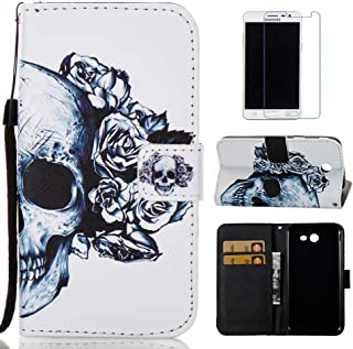 Galaxy J3 Emerge Case, J3 2017 Case, J3 Prime Case, Everun [Credit Card Holder] Wallet Leather Case Protective Flip Cover for Samsung Galaxy J3 Emerge/J3 2017/J3 Prime