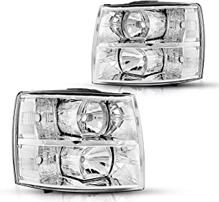 Torchbeam Replacement Headlight Assembly for 2007-2013 Silverado, OE # 25833678/22853028 / 25833679/22853027