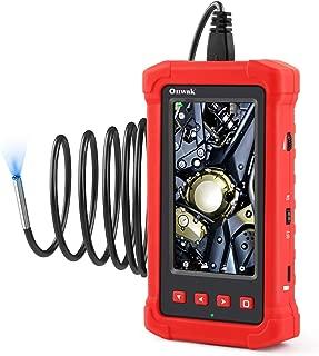 Oiiwak Industrial Endoscope 3.9mm Ultra Slim Probe, 4.3'' Full-View IPS Screen 1080P HD Borescope Automotive Inspection Camera Waterproof,2800mAh Battery,8GB Card and Tool Box(3.5m/11.5ft)