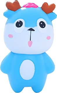 AOLIGE Squishies Slow Rising Jumbo Kawaii Cute Blue Deer Creamy Scent for Kids Party Toys Stress Reliever Toy
