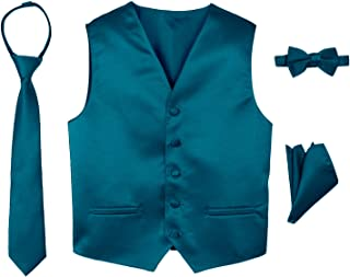 Spring Notion Boys' 4-Piece Satin Tuxedo Vest Set