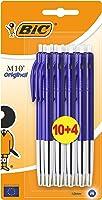 BIC M10 Klikbalpen middelgrote lijndikte, blauw (voordeelpak van 10, plus 4 gratis)